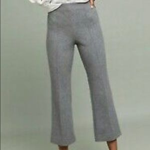 Anthropologie Cartonnier Cropped Flair knit Pants